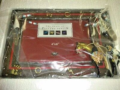 12442 MEDICINE HORSE Photo Frame (2005, Westland) 4x6 (Trail of Painted Ponies)