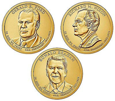 2016 - P Presidential Dollar 3 Coin Set - Philadelphia Mint - Fast Shipping