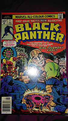 Black Panther #1 Jack Kirby Vg 4.0 King Solomon's Frog
