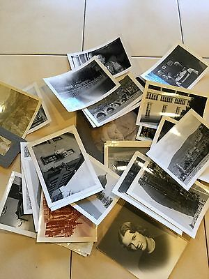 Lot Of 35 Vintage Photos Black And White Photographs Mostly From The 50's