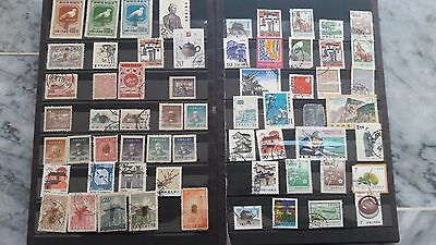 China Collection 62 Used Stamps  Lot #  4