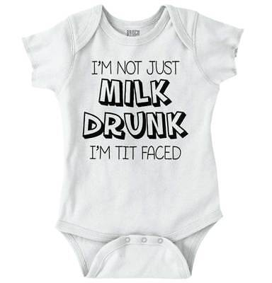 Not Just Milk Drunk Funny Shower Nerdy Gift Youth Toddler T-Shirt Tees Tshirts