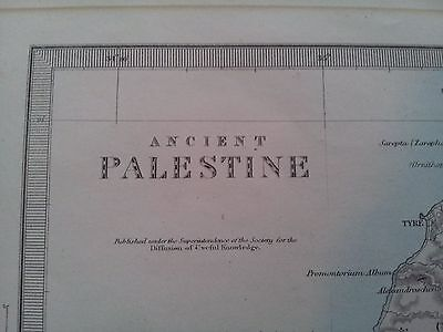 Map of Ancient Palestine -  from Edward Stanford - 6 Charing Cross, LONDON