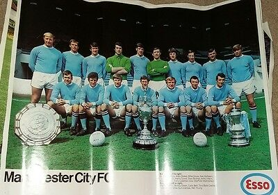 Manchester City Vintage  Esso Football Poster