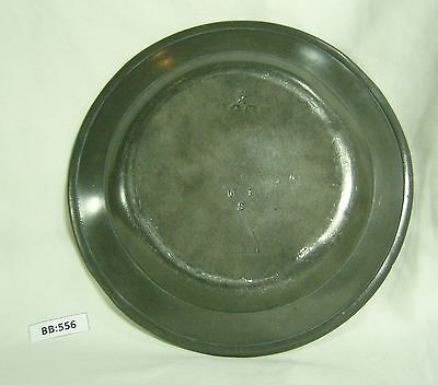 18th Century Pewter Dinner Plate with London marks - BB556