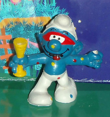 VINTAGE CARNIVAL SMURF WITH A DRINK (no lamp or stick) 1979 SMURF LOT