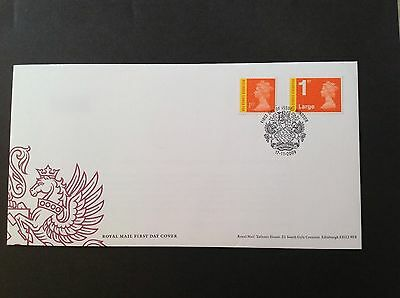 Gb 2009 First Day Cover New Recorded Signed For High Value Definitive Issue