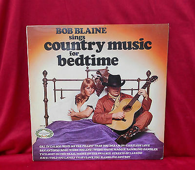 Record ~ Lp ~ Bob Blaine ~ Sings Country Music For Bedtime ~ From 1968 ~ Hm581