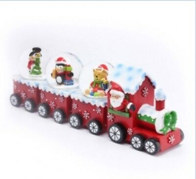 Father Christmas Snow Globe Train Carriage Ornament Penguin Snowman Teddy Design