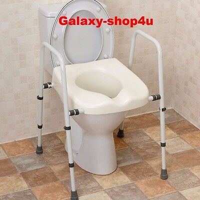 Mobility Toilet Seat Frame Support Disability Disabled Aid Equipment Grab Elderl