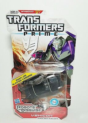 NEW Sealed 2012 Transformers Prime Vehicon Deluxe Class Figure