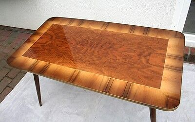 Extremely Rare Mid Century Modern German Marquetry Table in very good condition