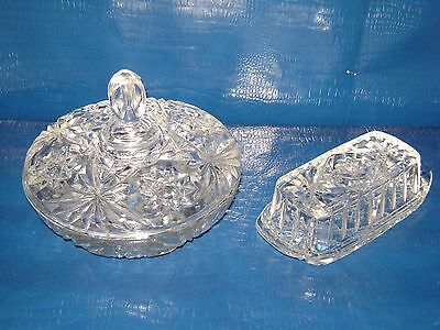 VTG SET Star Of David Butter Dish, 10.5 salad bowl, & candy dish EAPC ANCHOR HOC