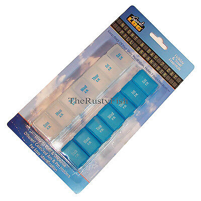Weekly Am Pm 7 Day/night Pill Box Tablet Organiser Medication Container Travel