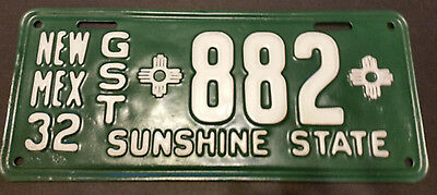 1932 New Mexico Gst-882 Guest License Plate