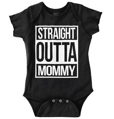 Straight Outta Mommy Funny Shirt | Cool Baby Clothes Compton Romper Bodysuit