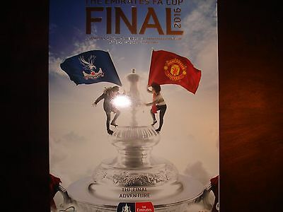 Manchester United v Crystal Palace FA Cup Final Programme 2016.