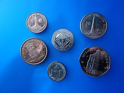 NEW coins of Isle of Man - 6 coin set (1 penny- 50 pence) modern coins of Europe
