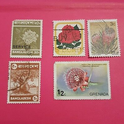 5 x Flower Stamps