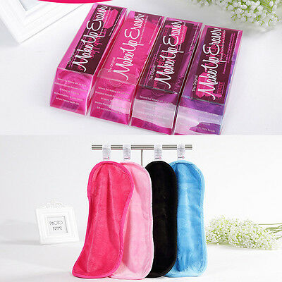 Reusable Facial Cleansing Towels Eraser Cosmetics Remove Makeup Mascara 4Colors