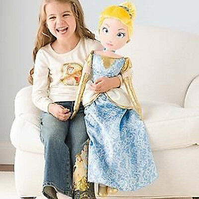 Disney MY SIZE Cinderella Plush Doll - Brand New With Tags!  FREE SHIPPING !