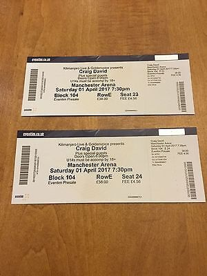 Craig David Tickets Manchester (Two) 1st April 2017