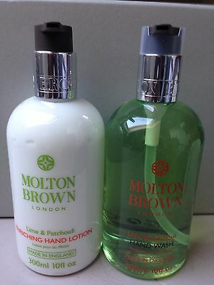 Molton Brown Lime & Patchouli Hand Wash and Lotion Set 300ml Gift Bathroom