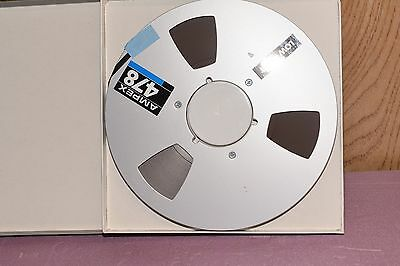 AMPEX 478  LOW PRINT 10 1/2 inch METAL Reel to  Reel Recording Tape
