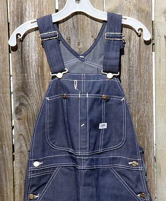 Vintage NOS Lee Denim Overalls Union Made in U.S.A. Button Fly 34 x 30 w/Tag