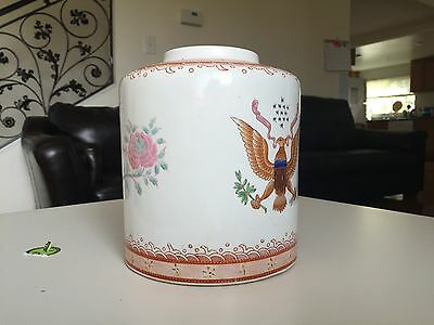19C Chinese Export Armorial Porcelain Large Ginger Jar Or Tea Candy Vase