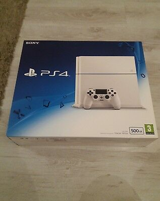 Sony PS4 - Boxed - White - 500GB