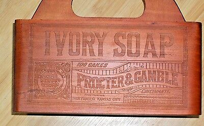 Ivory Soap Wood Box Paperplate Utensil Caddy Procter and Gamble Advertisingi