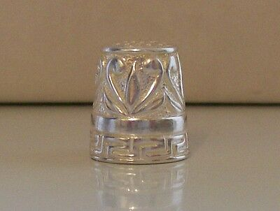 Lovely Continental 925 Sterling Silver Thimble