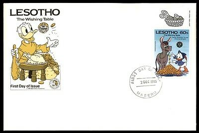 Lesotho December 2, 1985 Lesotho The Wishing Table First Day Cover Disney
