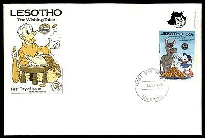 Lesotho December 2, 1985 Lesotho First Day Cover The Wishing Table