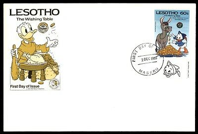 Lesotho Lesotho December 2, 1985 Walt Disney First Day Cover With Cachet