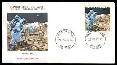 Mali 1973 250 Fr Space Cacheted First Day Cover Man On The Moon