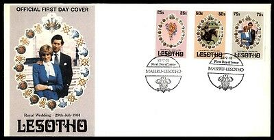 Lesotho Royal Wedding 1981 Cachet On First Day Cover