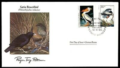 April 16, 1985 Satin Bowerbird First Day Cover With Cachet Peterson