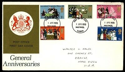 April 1, 1970 General Anniversaries Royal Astronomical Society First Day Cover