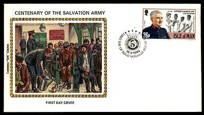 Silk Cachet Colorano Isle Of Man 1983 Salvation Army First Day Cover