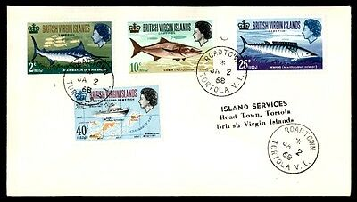 January 2, 1968 British Virgin Islands Fishing Issues First Day Cover