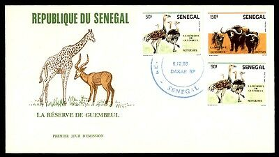 Senegal Ostrich Wildlife Issues On First Day Cover December 6 1988