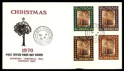 December 8 1970 Municipal Christmas Tree Company Guyana First Day Cover
