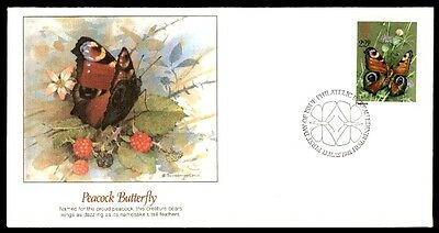 San Marino Peacock Buterfly First Day Cover 1981 Illustrated