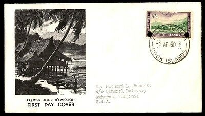April 1 1960 Cook Islands Illustrated First Day Cover With Cachet