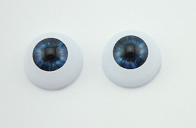 Doll Accessories  22 mm Half Round Acrylic Eyes For Reborn Baby Doll1 Pair