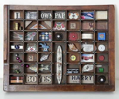 Small Quirky Vintage Industrial Printers Tray Artwork