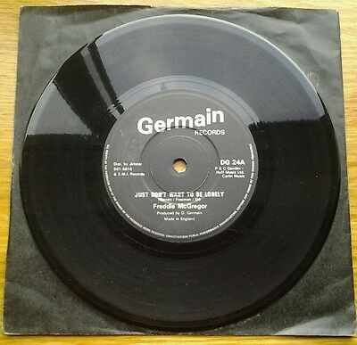 """FREDDIE McGREGOR - JUST DON'T WANT TO BE LONELY 7"""" 45RPM VINYL SINGLE"""