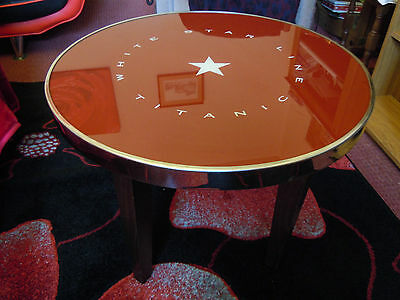 White Star Line 'Titanic' Glass Topped Table From Titanic Restaurant 1998 - 2002